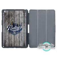 San Diego Padres Baseball Folio Cover Case For Apple IPad Mini 1 2 3 4 Air