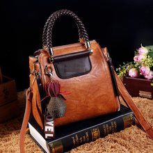 Vintage Genuine Leather Totes Luxury Handbags Women Bags Designer Famous Brand Retro Shoulder Bag Oil wax Messenger Bag New T38(China)