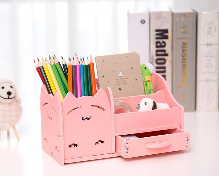 Strange Home Office Desk Stationary Storage Box Pen Holder Desktop Storage Small Gadgets Collect Set Home Interior And Landscaping Ponolsignezvosmurscom