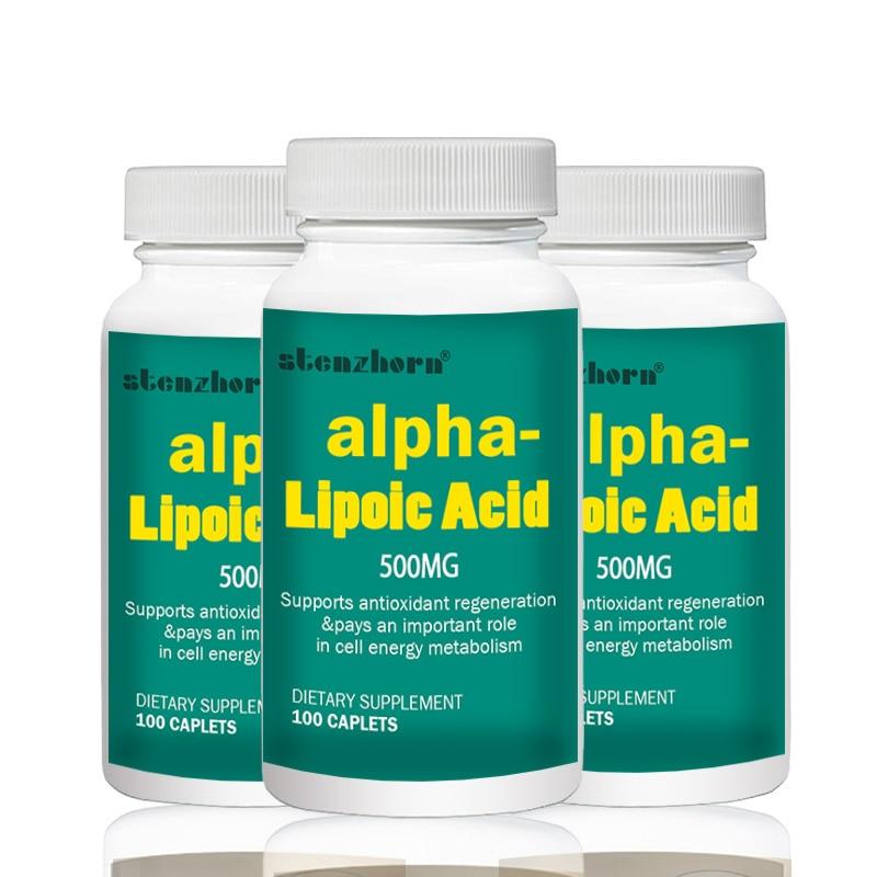 Big Deal Free Shipping Universal Antioxidant 3 Bottles Alpha Lipoic Acid 500mg 100pcs   Total 300PCS