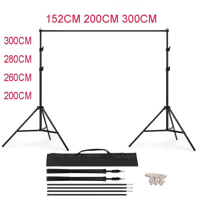 Fondo de estudio fotográfico KIT de soporte de telón de fondo con forma de T para estudio fotográfico 152 cm, 200 cm, 280 cm, 260 cm, 300 cm