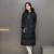 Novo 2016 Moda Mulheres Jaqueta de Inverno Longo Slim Gola Sólida zíperes Bolso Senhoras Longo Casaco Quente Para Baixo Casaco Plus Size JN1127