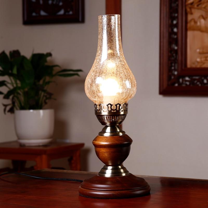 Classic Retro Kerosene Lamp Glass Lantern Desk Lamp