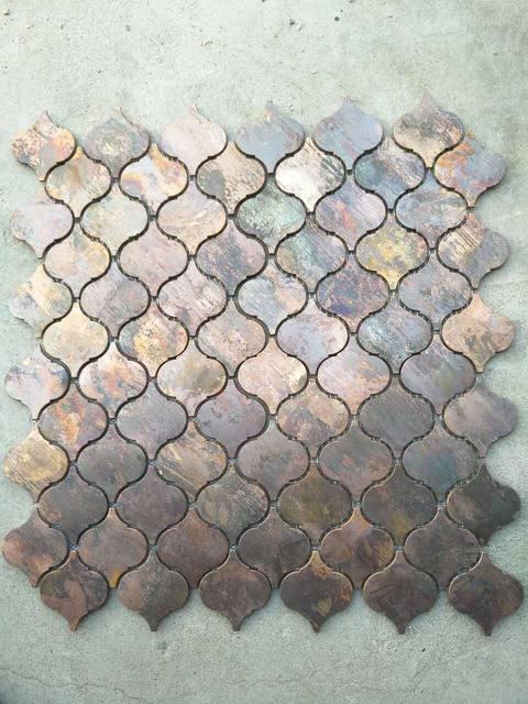 Arabesque Lantern Beacon Copper Tile In Bronze Brushed For Kitchen Backsplash Wall A6yb100