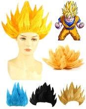 Z cosplay peruca goku anime traje festa vestir-se preto azul amarelo transporte da gota