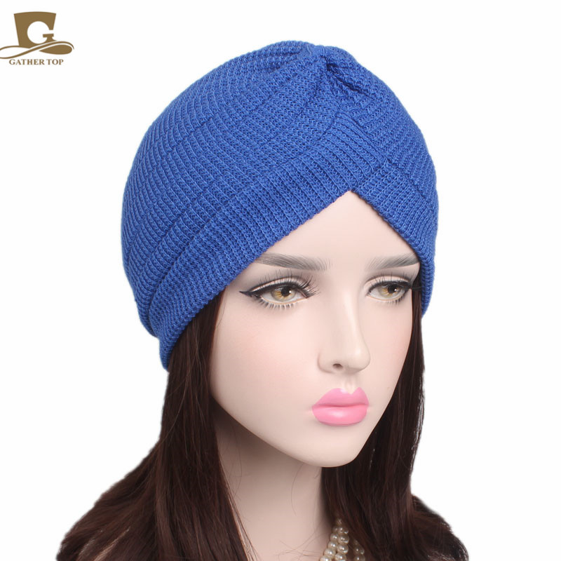 10 pcs/lot New fashion winter Cotton Turban Head Wrap Band Sleep Hat Indian Caps Scarf H ...