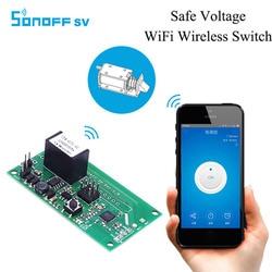 SONOFF SV bezpieczne napięcie bezprzewodowy moduł przełączający wsparcie rozwoju wtórnego 5V 12V dla inteligentnego domu IOS Android w Moduły automatyki domowej od Elektronika użytkowa na