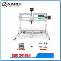GRBL DIY CNC 2418 CNC Machine Working Area 24x18x4 5cm 3 Axis Pcb Milling Machine Wood