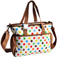 New Fashion Dot Baby Diaper Nappy Changing Bag Handbag Multifunctional Mummy Womens Luggage Maternity Tote Shoulder Bag