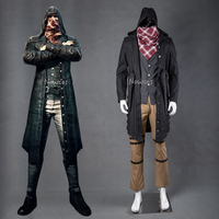 New game PUBG Cosplay Costume PLAYERUNKNOWN'S BATTLEGROUNDS Outfit Trench Men Long Jacket Coat Pants Scarf Custom made Full set