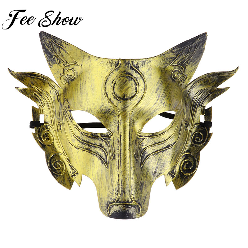 Women Halloween Costume Cosplay Party mask Man Wolf Costume Mask Full Face Masquerade Mask For Rave Party Masks