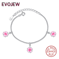 Evojew 100% 925 Серебряный цветок Талисманы подвеска браслет для детей прекрасный эмаль Ветряные мельницы браслет детей, ювелирные изделия