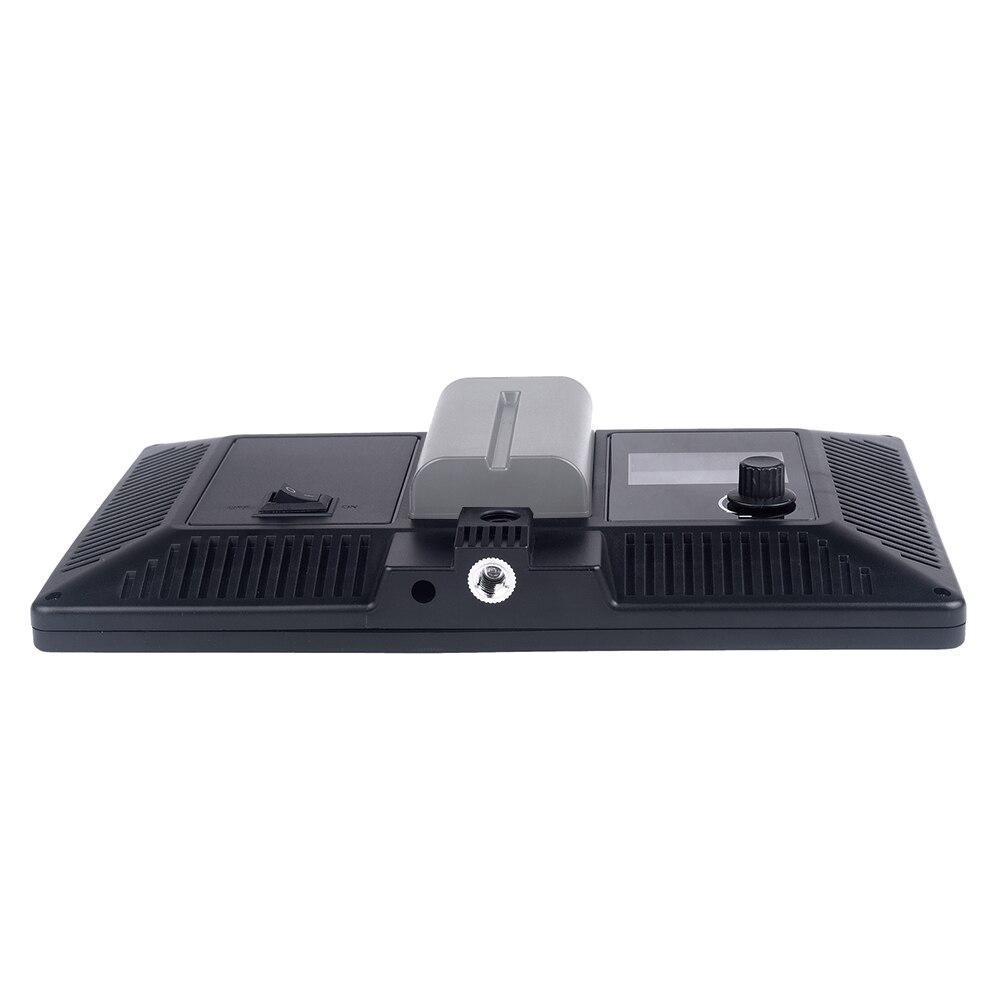 Viltrox L116T LCD Affichage Bi-Couleur et Dimmable Mince DSLR Vidéo LED Lumière + Batterie + Chargeur pour Canon nikon Caméra DV Caméscope - 4