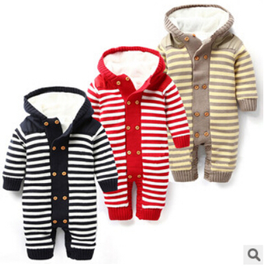 Winter 1PCS Baby rompers plus villus new unisex born jumpsuit warm baby boy clothes recem nascido roupa de bebe menino macacao 2016 bebe rompers ropa pink minnie hoodies newborn long romper baby girl clothing roupa infantil jumpsuit recem nascido