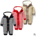 Winter 1PCS Baby rompers plus villus new unisex born jumpsuit warm baby boy clothes recem nascido roupa de bebe menino macacao