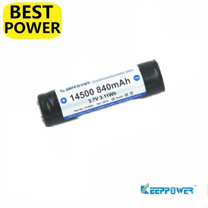 1 pcs Keeppower 14500 840mah 3.7V 3.11Wh protected Li-ion rechargeable battery Original P1450J