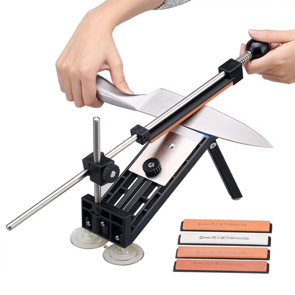 Ruixin Pro I Professionelle Messerschärfer Küche Schärfsystem mit 4 stücke Whetstones Apex Rand Pro Schleifstein PK Pro II III