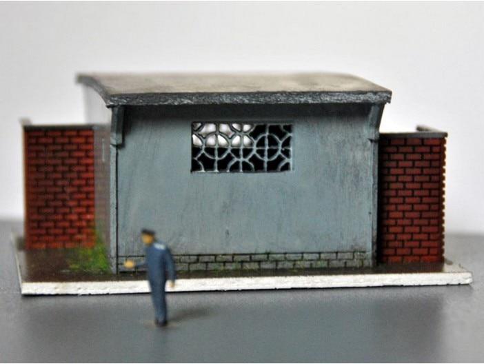 1: 87 HO архитектурные сцена песок Таблица HO старые модели Туалет поезд модель сцены ...