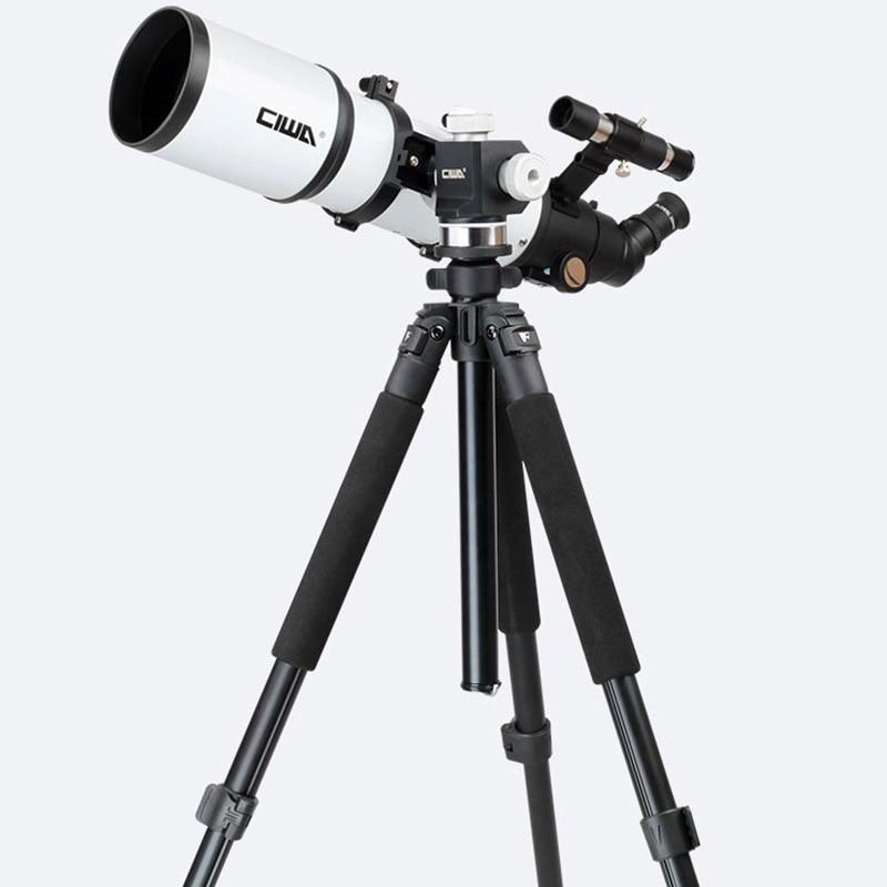 CIWA Portable Tripod Space telescopic Outdoor Monocular Astronomical Telescope Optical Refractor Design Professional Telescope