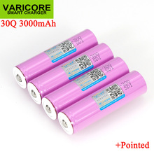 VariCore 3.7V 18650 ICR18650 30Q 3000mAh li ion Rechargeable battery For Flashlight Batteries + Pointed
