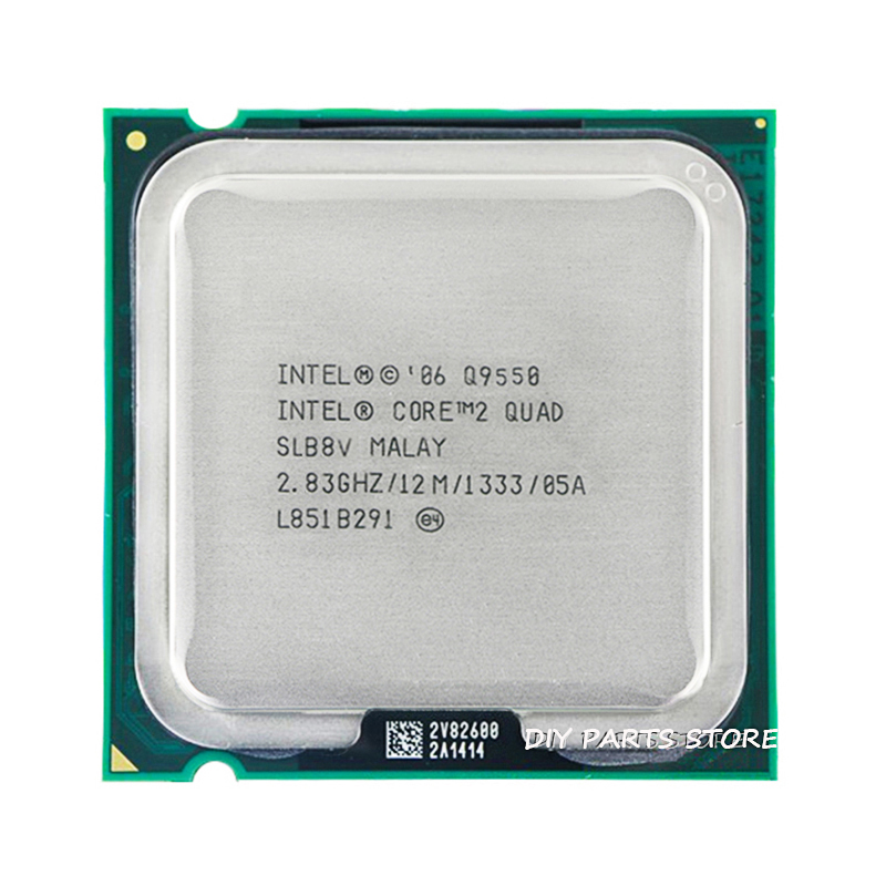 4 kärna INTEL Core 2 Quad Q9550-uttag LGA 775 CPU INTEL Q9550-processor 2.8G hz / 12M / 1333GHz)
