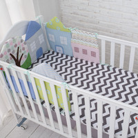 High Quality Flexible Combination All kinds of Huts Baby Bed Bumper Easy to Use Bumpers In The Crib Size 30*30 And 40*60