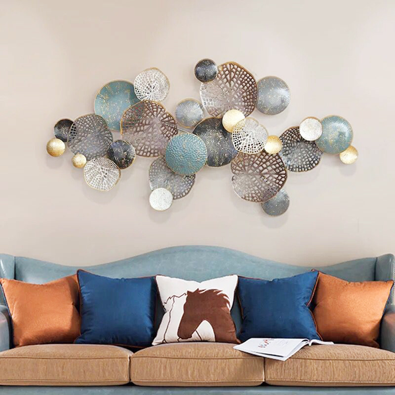 Nordic Style Wall Hangings Creative Wrought Iron Wall Decoration Living Room Dining Room Porch Decorative Disc WF601414