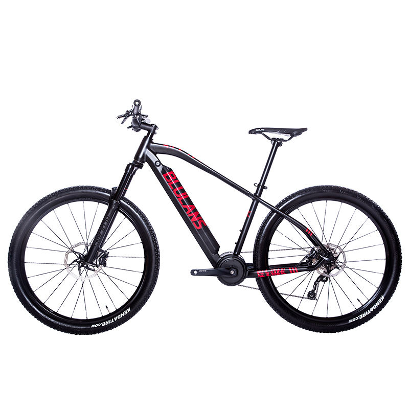 27.5inch Ebike Mid-motor Long-range Travel Electric Mountain Bicycle Oil Brake Air Pressure Shock-absorbing Mountain EMTB