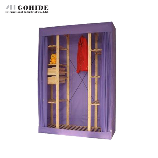 Gohide Cm Wide Pinewood Cloth Wardrobe Hanging Clothes Cabinet - Bedroom furniture for hanging clothes