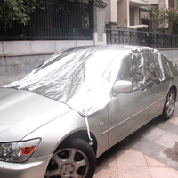 Universal Reflective Half Car Cover Weather Protector Waterproof Outdoor UV Protection Shield car covers