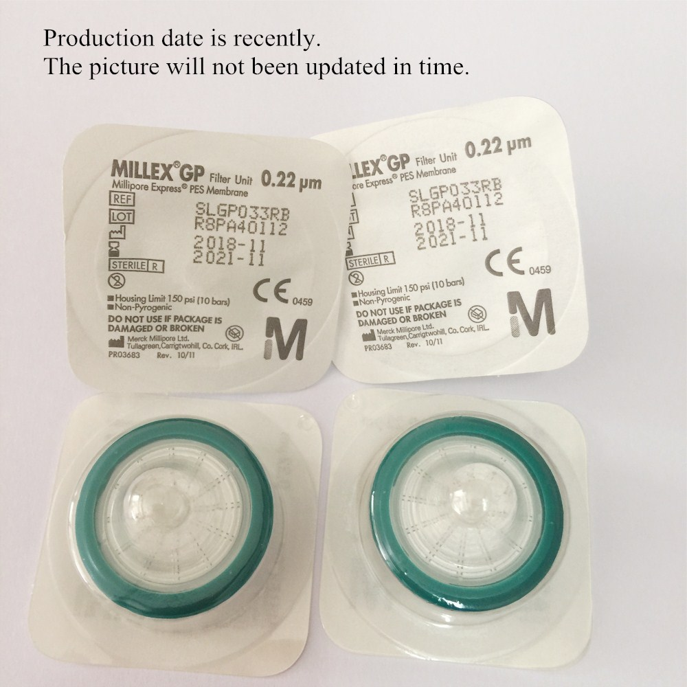 Millipore Filter Unit 33mm 0.22um Sterile Syringe Filter Injector Needle PES Membrane SLGP033RB 50PCS/PK