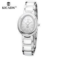 Fashion Ladies Dress Quartz Watch Rejoj Mujer Women Luxury Watches Female Wristwatch KICADN Woman Elegant Ceramic Clock
