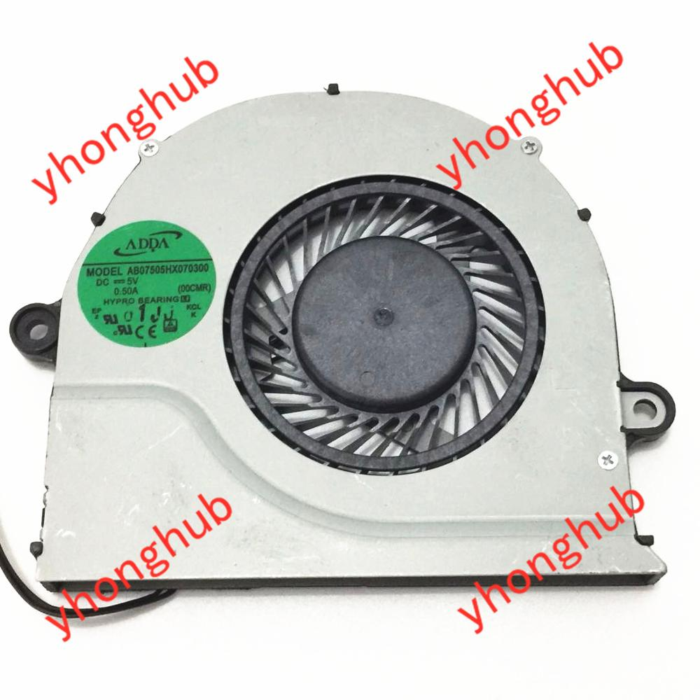 ADDA AB07505HX070300 FCN DFS561405FL0T DC 5V 0 50A 3 wire Server Laptop Cooler Fan
