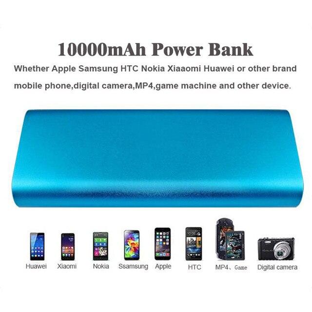 Kailiya technology externa 10000 mah power bank para iphone 5s 6/samsung/xiaomi/huawei/htc/lg/tablet carregador de bateria celular
