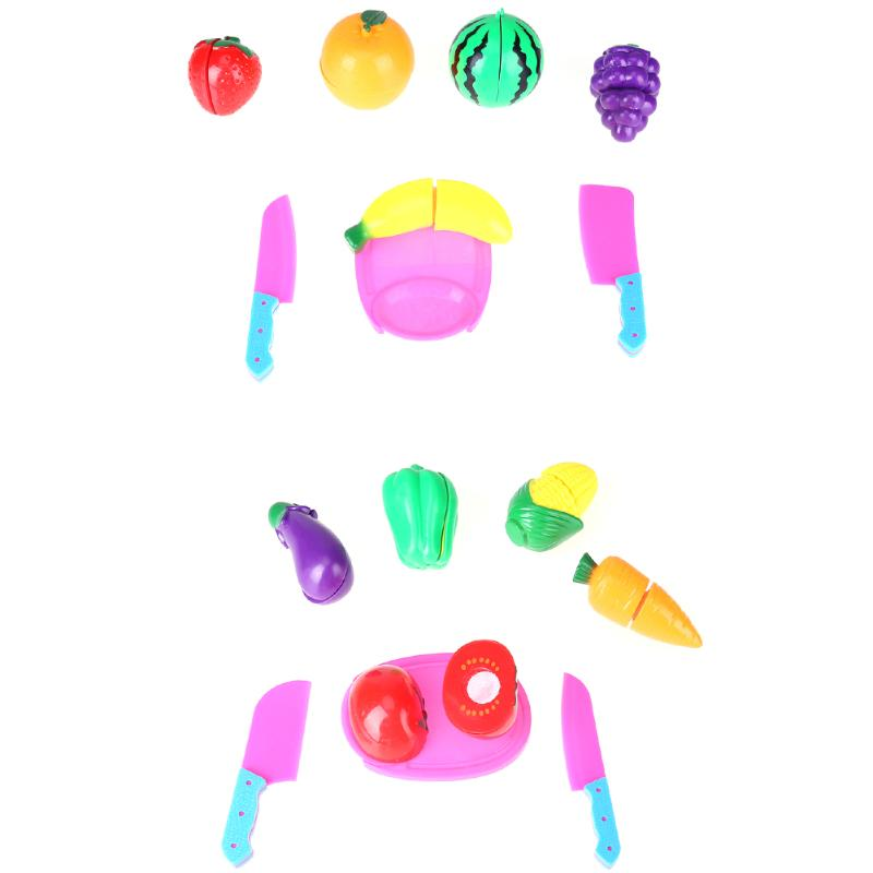 Vegetable Fruit Kitchen Toys Kids Baby Pretend Playing Cutting Toy Cutting Toy Baby Safety Classic Plastic Toys Kitchen Play Set