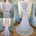 Elegant Straight Long Prom Dresses Sexy Appliques Lace Vestido De Festa Longo Vintage Evening Dress Party Gowns 2017 Real Image