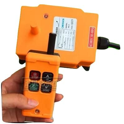 OHOBOS HS-4 DC12V AC220V Single Speed 1 Transmitter+1 Receiver Hoist Crane Industrial Wireless Remote Control button Switch nice uting ce fcc industrial wireless radio double speed f21 4d remote control 1 transmitter 1 receiver for crane