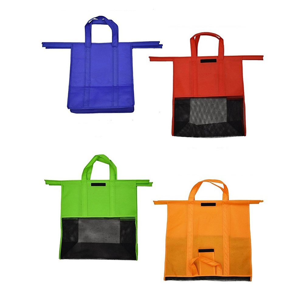 Auau 4pcs/set Shopping Cart Trolley Bags Foldable Reusable Grocery Shopping Bag Eco Supermarket Bag Easy To Use And Heavy Duty Vivid And Great In Style Functional Bags