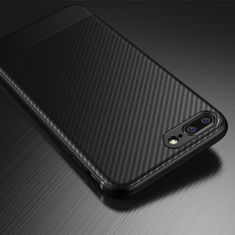 the best attitude 52592 ec584 Carbon Fiber Iphone X Iphone 7 8 Plus Thin Slim Back Iphone 6S 6 Plus  Iphone 8 XS Max XR Cover Silicone