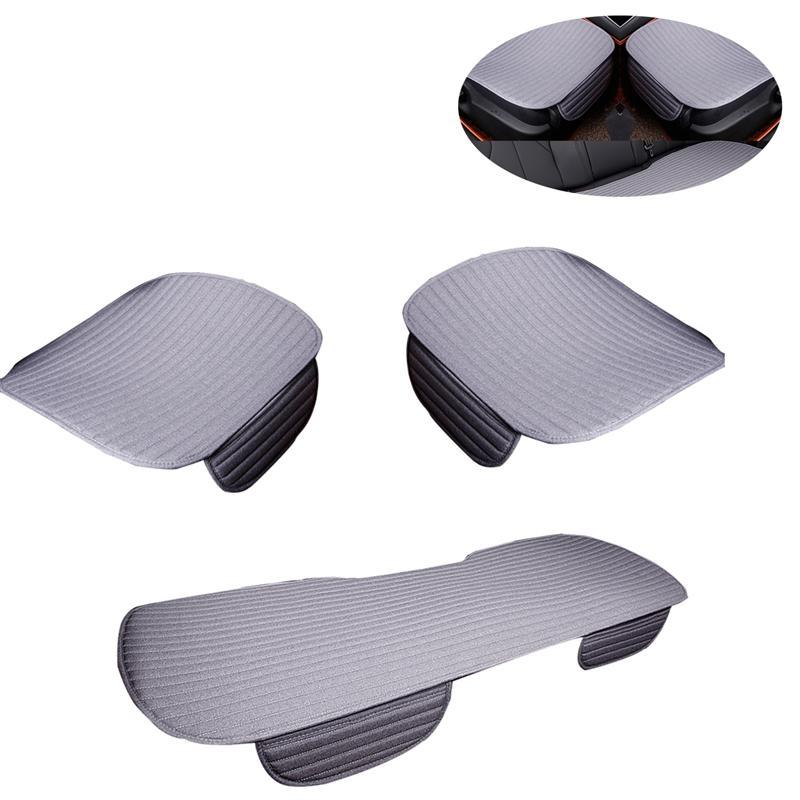 Three Pieces Car Breathable Seat Cover Pad Cushion Auto Seat Mat Kit Automobiles Seat Covers Interior Accessories