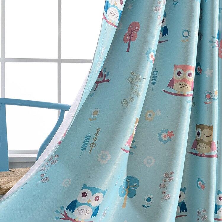 2017 Nouveaux rideaux pour enfants chambre enfants hibou ombrage fini - Textiles de maison - Photo 3