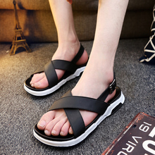 Men's summer sandals thick crust Korean personality tide shoes breathable summer sandals Roman shoes tide SUB974