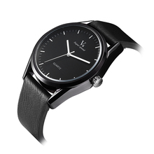 V6 Simple leather strap quartz watch classic style without digital brand watches men watch black business student new watches