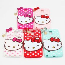 beauty and the beast For Samsung Galaxy Note 4 S3 i9300 S4 i9500 S5 Covers Hello Kitty Pendant Rubber Silicone Skin Cases