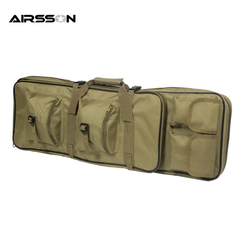 Airsoftsports 85CM Tactical Dual Rifle Bag With Shoulder Strap Nylon Waterproof Backpack For Rifle Gun Outdoor Hunting Shooting 47 folding fishing rod bag tactical duel rifle gun carry bag with shoulder strap outdoor fishing hunting gear accessory bag