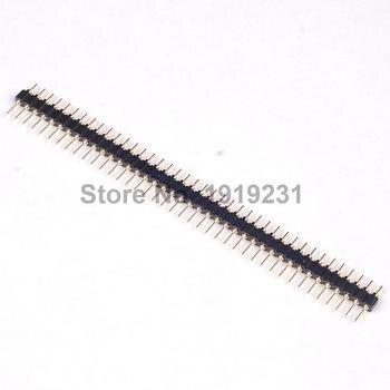 цена на 10PCS 1x40 Pin 2.54 Round Male Pin Header Connector