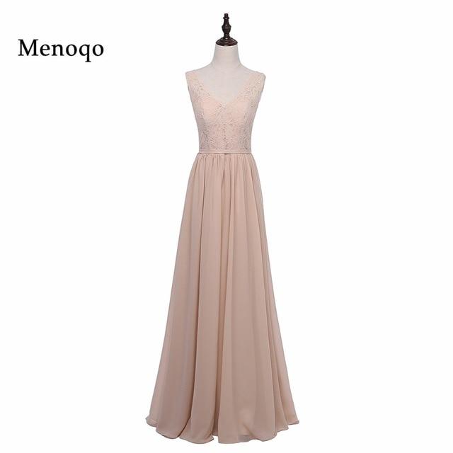 90c84ac89f Menoqo Elegant Long Country Style Lace Chiffon Bridesmaid Dresses 2018 Long  Prom Dresses Wedding Party Dress-in Bridesmaid Dresses from Weddings & ...
