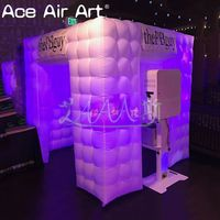 Mobile Led bulb inflatable digital photo booth,photo party cube with free air blower by most professional supplier Ace Air Art