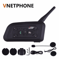 2017 Version V6 1200 Motorcycle Helmet Headset Bluetooth Headset Intercom BT Interphone
