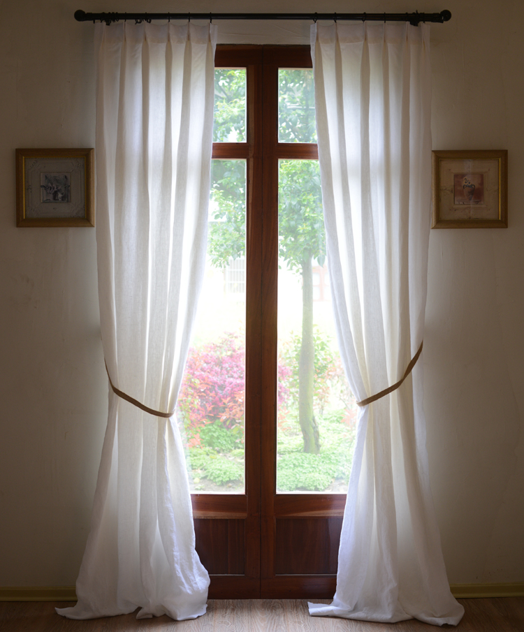 check MRP of natural linen curtains